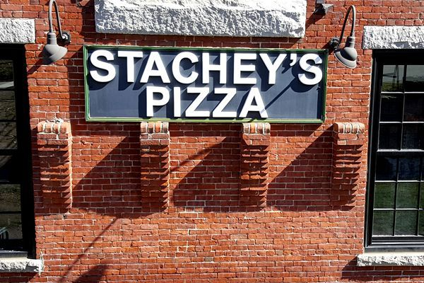 Stachey's Olde-Time Pizzera has 2 locations - 517 South Broadway Salem, NH - 603-893-1999 - 9 High Street North Andover, MA - 978-683-1999